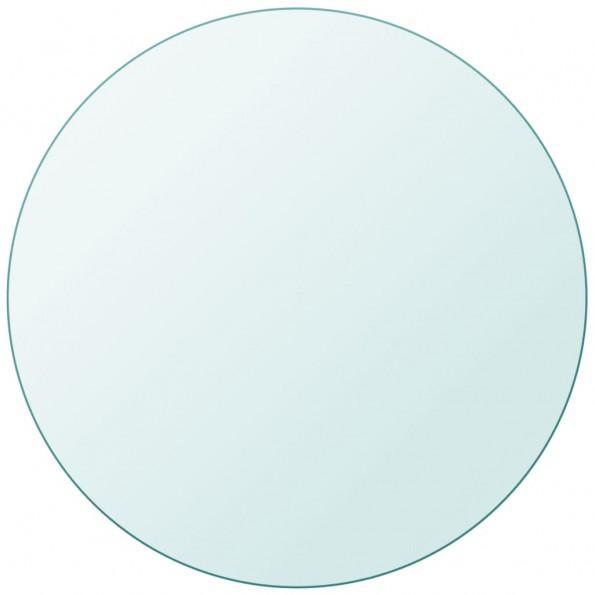 Bordplade hærdet glas rund 800 mm