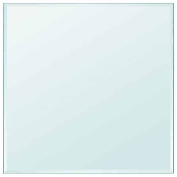 Bordplade hærdet glas firkant 800 x 800 mm