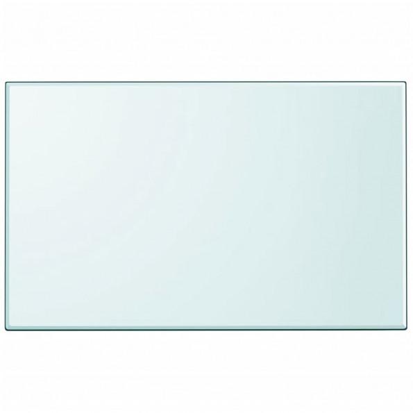 Bordplade rektangulær 1000 x 620 mm hærdet glas