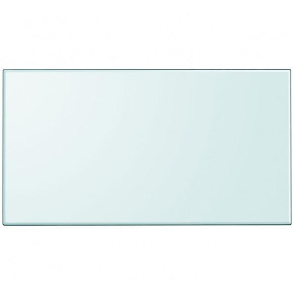 Bordplade hærdet glas rektangel 1200 x 650 mm