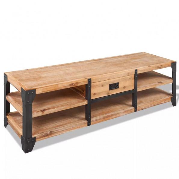 TV-bord massivt akacietræ 140x40x45 cm