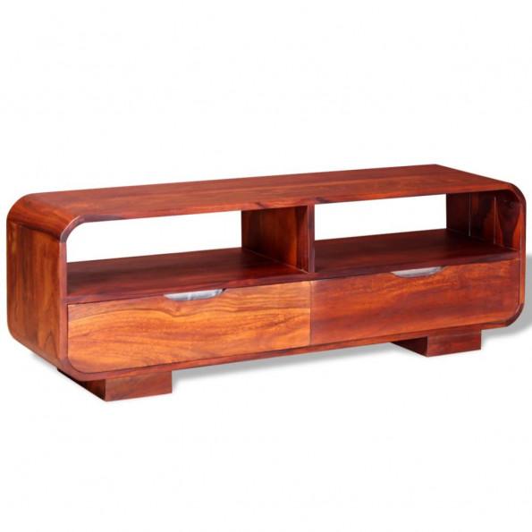 TV-bord i massivt sheeshamtræ 116 x 30 x 40 cm