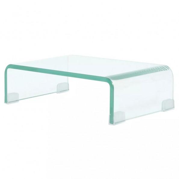TV-bord/monitorstander klar glas 40x25x11 cm