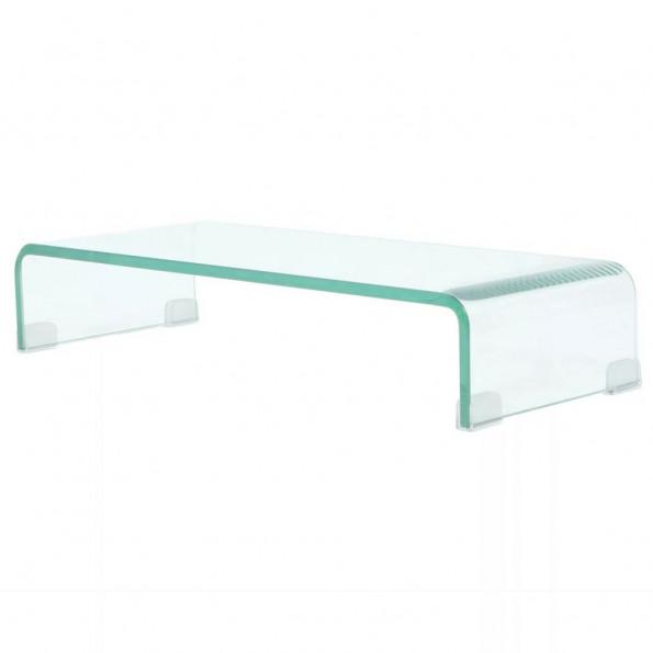 TV-bord/monitorstander klar glas 60x25x11 cm