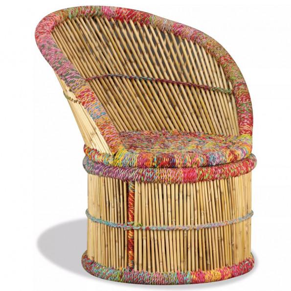 Bambusstol med chindi-detaljer