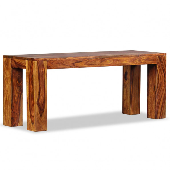 Bænk massivt sheeshamtræ 110 x 35 x 45 cm