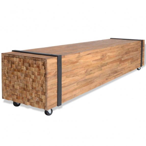 TV-bord i teaktræ 150 x 30 x 30 cm