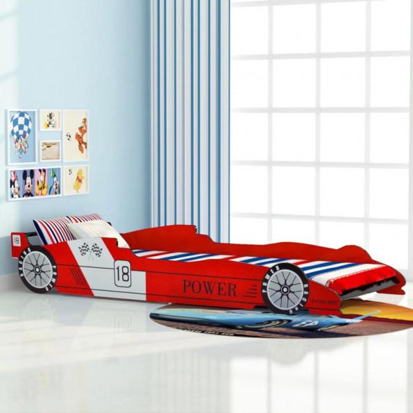 Racerbilseng til børn 90x200 cm rød
