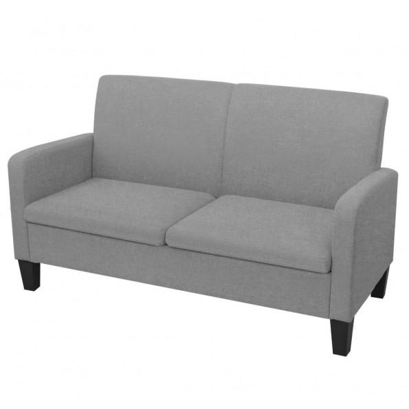 2-personers sofa 135 x 65 x 76 cm lysegrå