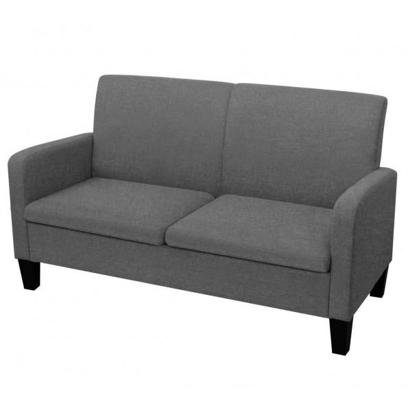 2-personers sofa 135 x 65 x 76 cm mørkegrå