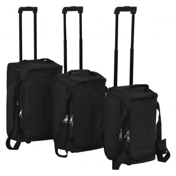 Kuffertsæt 3 stk. sort