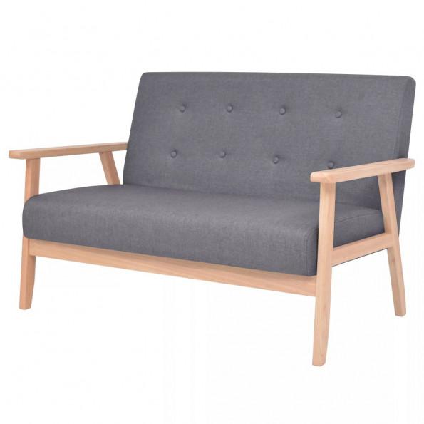 2-personers sofa i stof mørkegrå