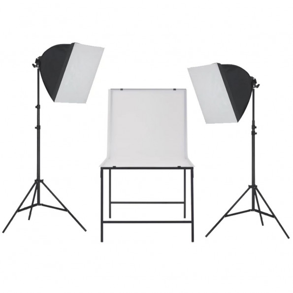 Fotostudieudstyr softbox lampesæt med fotobord