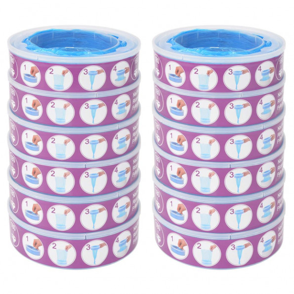 Blespand-refill til Angelcare Diaper Genie 12 stk.
