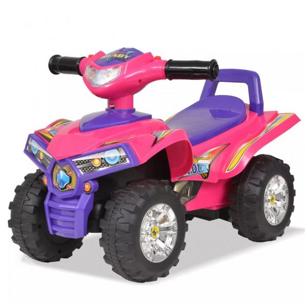 El-ATV til børn med lyd og lys lyserød og lilla