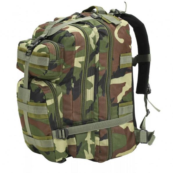 Rygsæk i militærstil 50 l camouflage