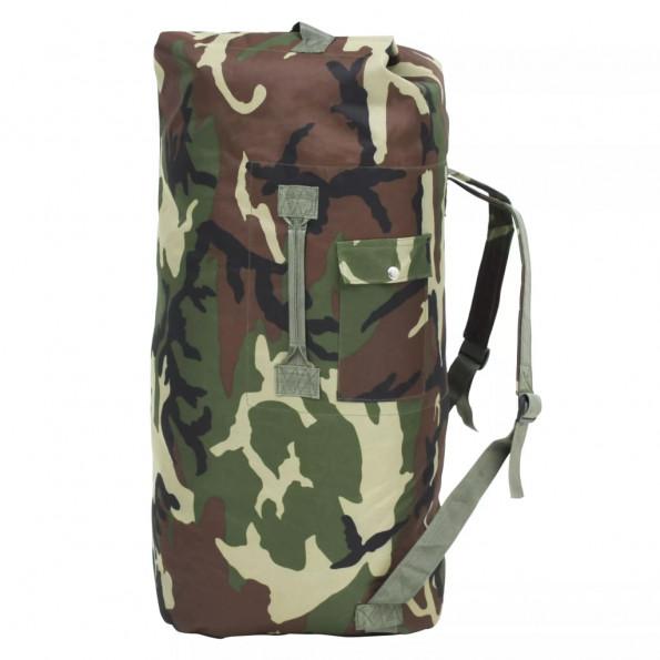 Duffeltaske i militærstil 85 l camouflage