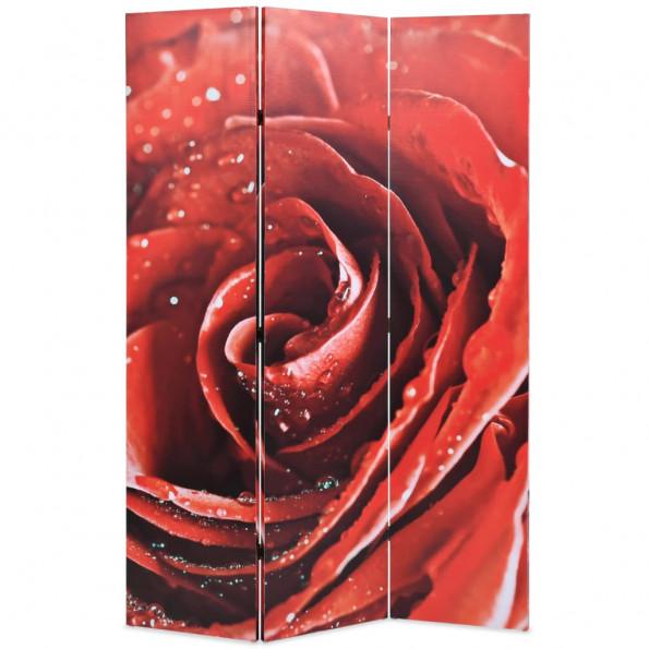 Foldbar rumdeler 120 x 170 cm rose rød