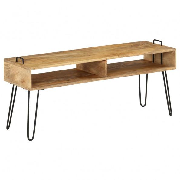 Tv-bord i massivt mangotræ 110 x 35 x 45 cm