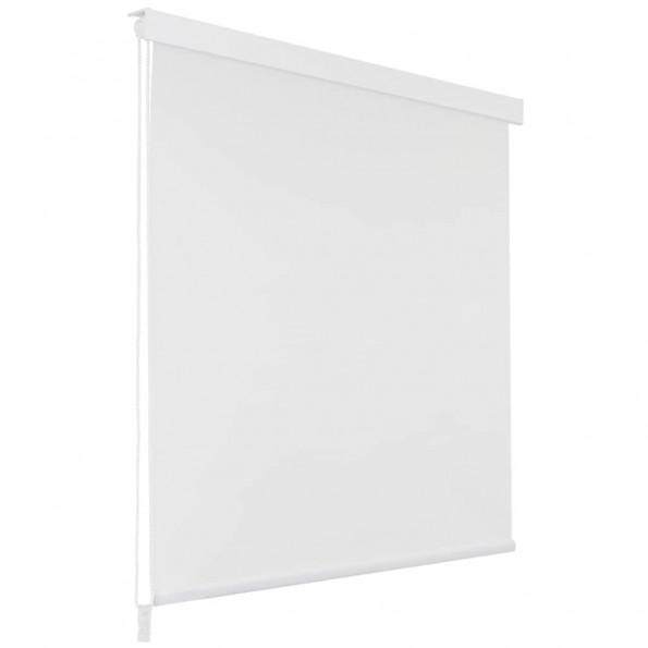 Rullegardin til brusekabine 100 x 240 cm hvid