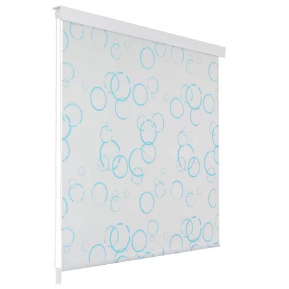 Rullegardin til brusekabine 80 x 240 cm boble-print