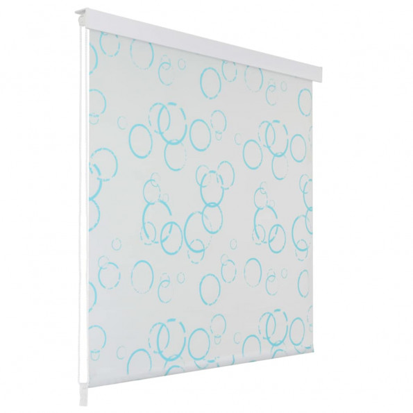 Rullegardin til brusekabine 100 x 240 cm boble-print