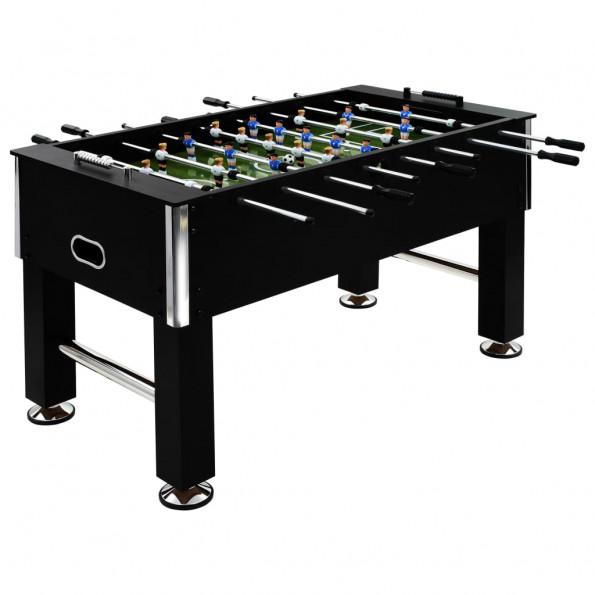 Fodboldbord 60 kg 140 x 74,5 x 87,5 cm stål sort