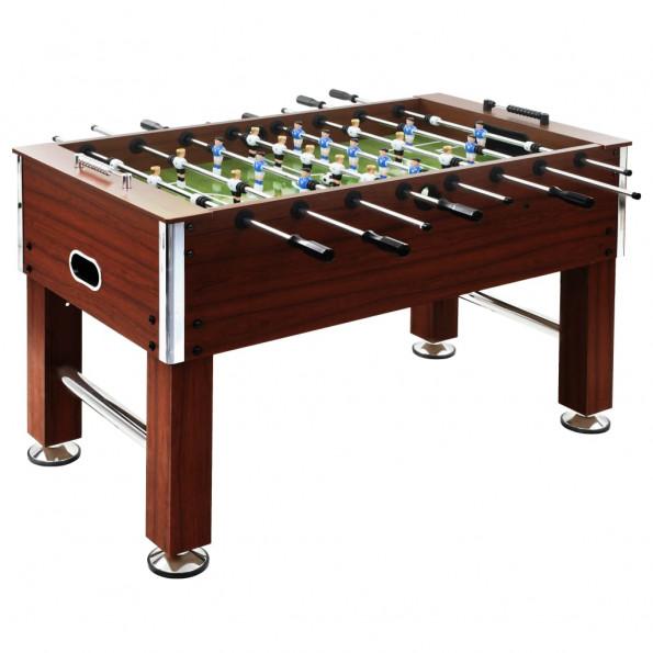 Fodboldbord 60 kg 140 x 74,5 x 87,5 cm stål brun