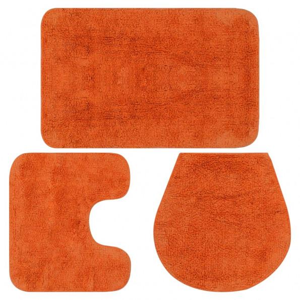 Bademåttesæt i 3 dele stof orange