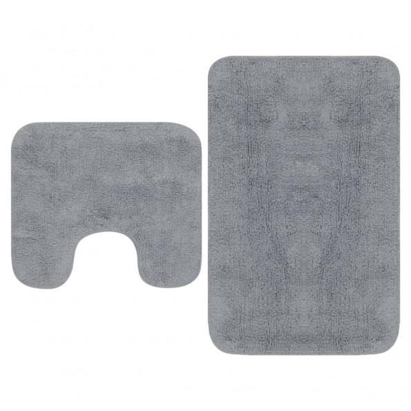 Bademåttesæt i 2 dele stof grå