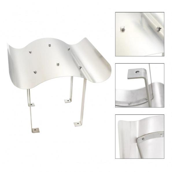 Skorstenshætte i rustfrit stål sølvfarvet