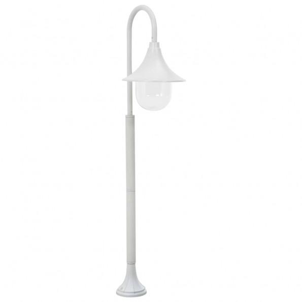 Havestolpelampe E27 120 cm aluminium hvid