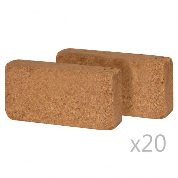 Coir-blokke 40 stk. 650 g 20 x 10 x 4 cm