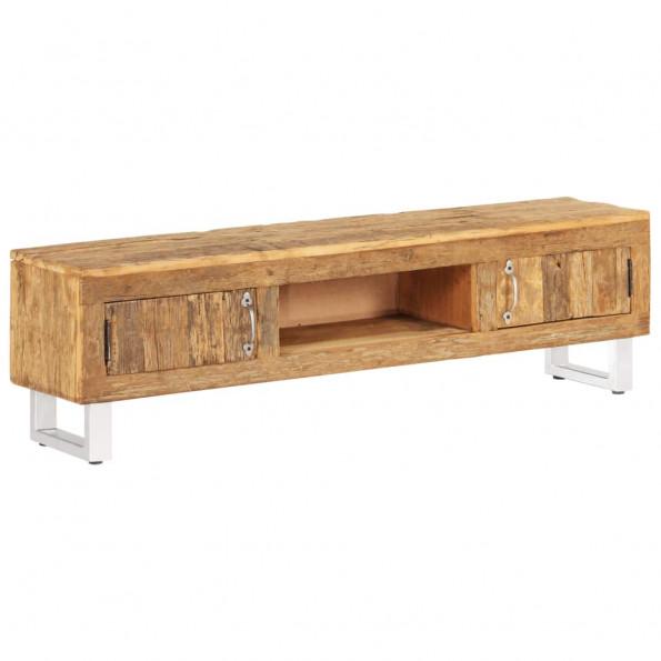 Tv-bord i massivt genbrugstræ 140 x 30 x 40 cm