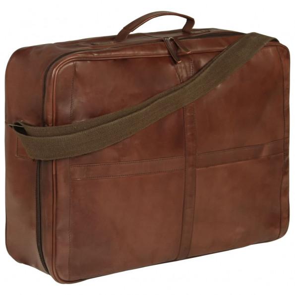 Weekendtaske ægte læder brun