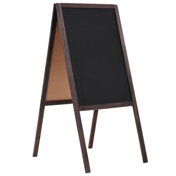 Dobbeltsidet tavle cedertræ fritstående 40 x 60 cm