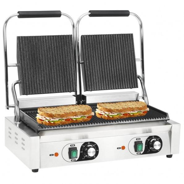 Dobbeltrillet panini-grill 3600 W 58 x 41 x 19 cm
