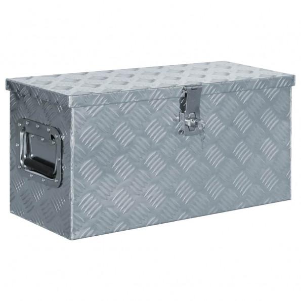 Aluminiumskasse 61,5 x 26,5 x 30 cm sølvfarvet