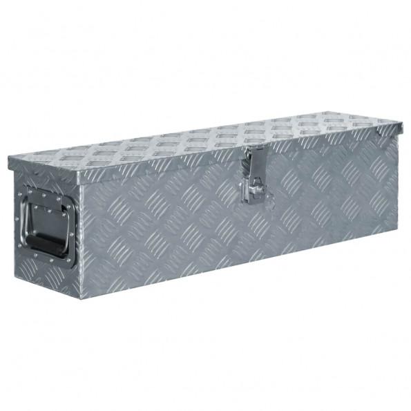 Aluminiumskasse 80,5 x 22 x 22 cm sølvfarvet