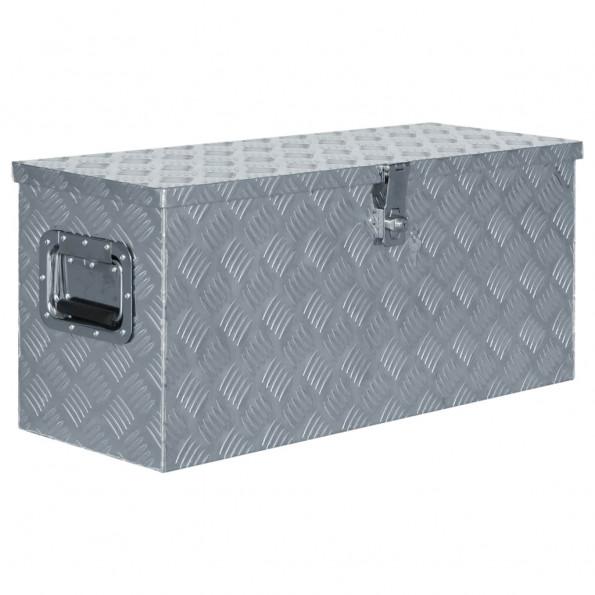 Aluminiumskasse 80 x 30 x 35 cm sølvfarvet