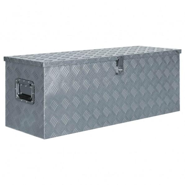 Aluminiumskasse 110,5 x 38,5 x 40 cm sølvfarvet