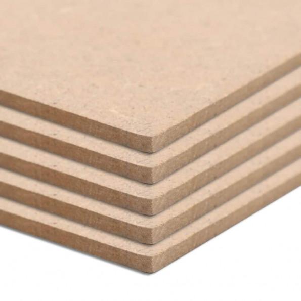 MDF-plader 20 stk. firkantet 60 x 60 cm 2,5 mm