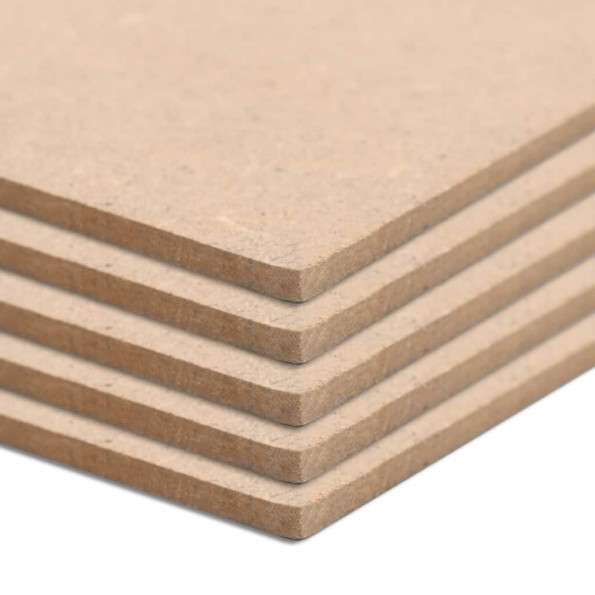 MDF-plader 5 stk. rektangulær 120 x 60 cm 2,5 mm