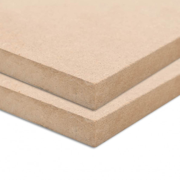 MDF-plader 2 stk. rektangulær 120 x 60 cm 12 mm