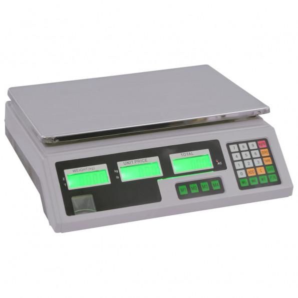 Digital vægt 30 kg med genopladeligt batteri