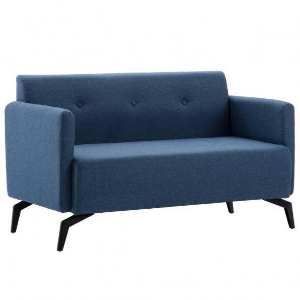 2-personers sofa stofbeklædning 115 x 60 x 67 cm blå