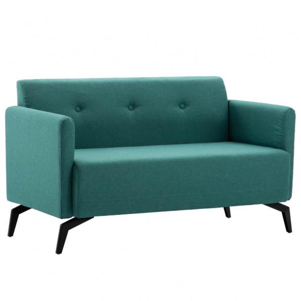 2-personers sofa stofbeklædning 115 x 60 x 67 cm grøn