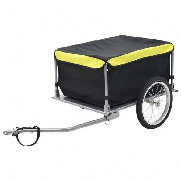 Cykelanhænger sort og gul 65 kg