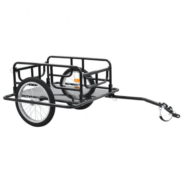 Cykelanhænger 130 x 73 x 48,5 cm sort stål