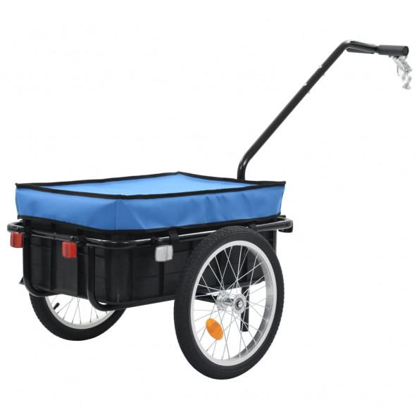 Cykelanhænger/trækvogn 155 x 61 x 83 cm blå stål